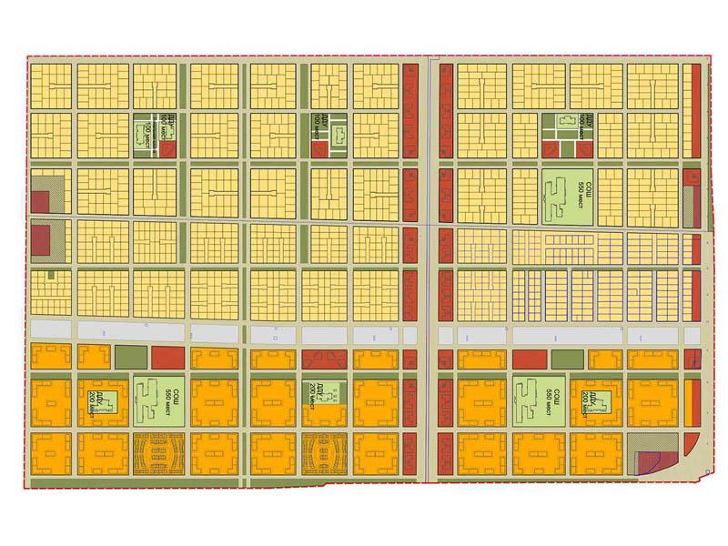 план застройки поселка крепость